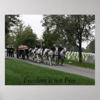 cementerio traído por caballo de Arlington de la c Póster