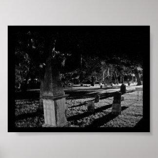 Cementerio viejo histórico en St Augustine la Flor Póster