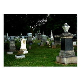 Cementerio viejo tarjetas de visita grandes