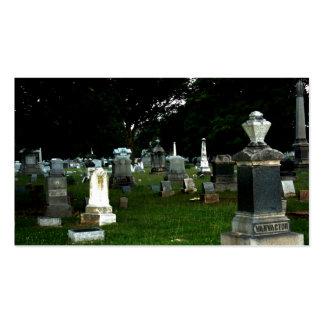 Cementerio viejo tarjetas de visita