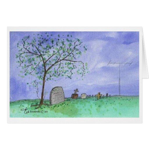 Cementerio y antena tarjetón