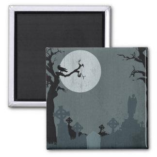 Cementerio y Luna Llena para Halloween Imán Para Frigorífico