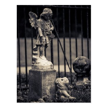 USA Themed Cementery Charles Town Postcard