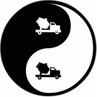 Cemento de Yin Yang Escultura Fotografica