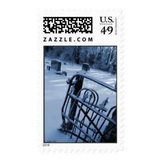 Cemetary in Ice by MKP Stamps