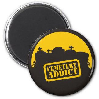 Cemetery Addict 2 Inch Round Magnet