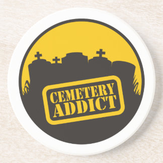Cemetery Addict Drink Coaster