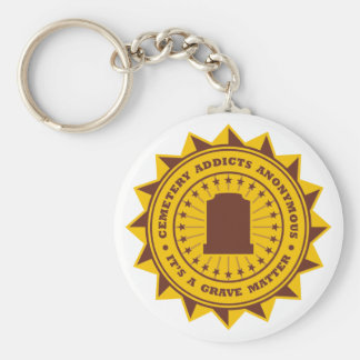 Cemetery Addicts Anonymous Key Chain