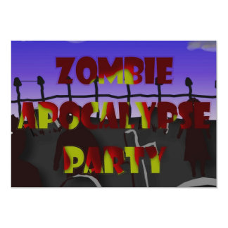 Cemetery and Blood Zombie Apocalypse Party Invite