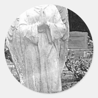 Cemetery Angel Classic Round Sticker