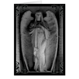 Cemetery Angel Woman Gothic Victorian Card