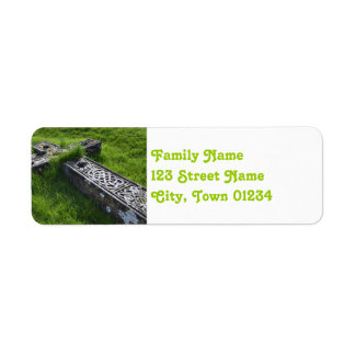 Cemetery at Rock of Cashel Label