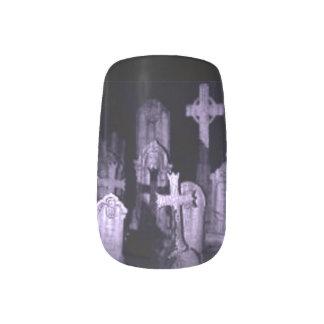 Cemetery Blues Goth Minx ® Nail Art