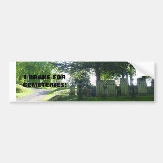 CEMETERY BUMPER STICKER FOR THE GENEALOGIST!