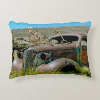 Cemetery car accent pillow