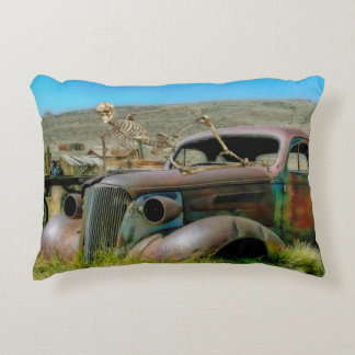 Cemetery car decorative pillow