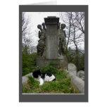 Cemetery Cat Card