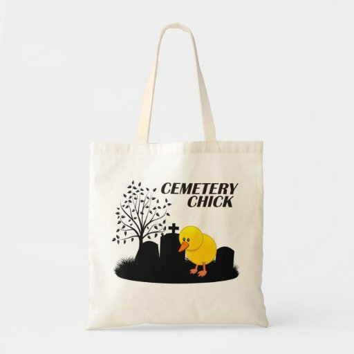 Cemetery Chick Budget Tote Bag