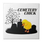 Cemetery Chick Ceramic Tile