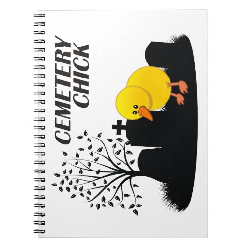 Cemetery Chick Spiral Note Books