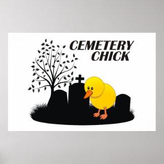 Cemetery Chick Print