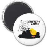Cemetery Chick Refrigerator Magnets