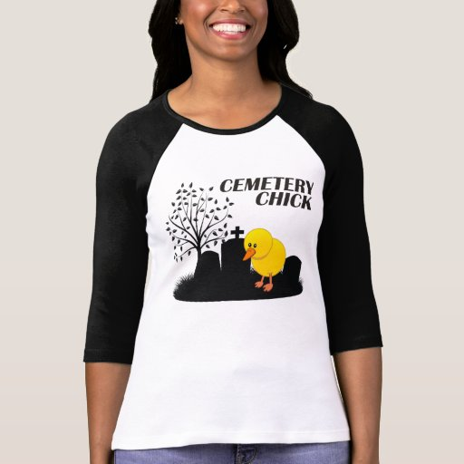 Cemetery Chick T Shirt