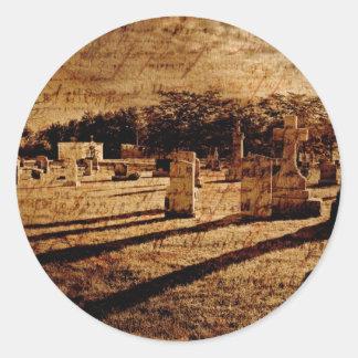 Cemetery Classic Round Sticker