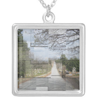 Cemetery Collage Necklace