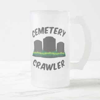 Cemetery Crawler Frosted Glass Beer Mug