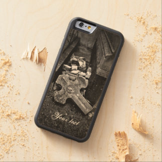 Cemetery fallen cross graveyard decay carved® maple iPhone 6 bumper case