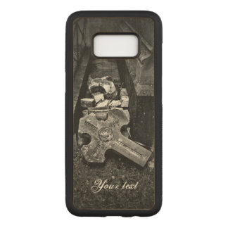 Cemetery fallen cross graveyard decay carved samsung galaxy s8 case