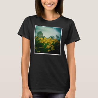 Cemetery & Flowers T-Shirt Design