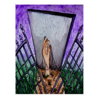 Cemetery Gates Blank Greeting Card