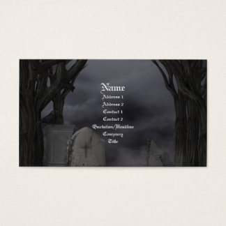 Cemetery gothic Business Card
