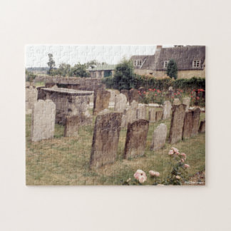 Cemetery, Graveyard Britain Tombstones Graves Jigsaw Puzzle