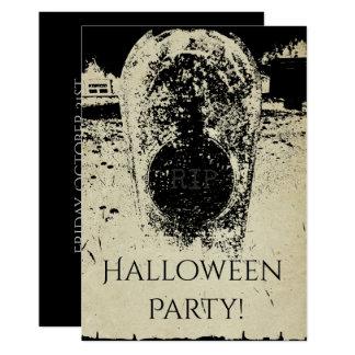 Cemetery Haunted, Creepy Grave Halloween Darkness Card