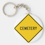 Cemetery Highway Sign Keychain