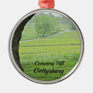 Cemetery Hill, Gettysburg Metal Ornament