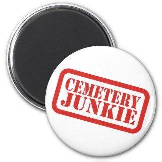 Cemetery Junkie 2 Inch Round Magnet
