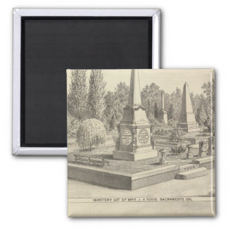 Cemetery lot Sacto, res Woodland 2 Inch Square Magnet