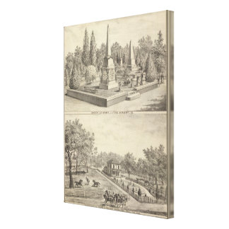 Cemetery lot Sacto, res Woodland Canvas Print