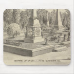 Cemetery lot Sacto, res Woodland Mouse Pad