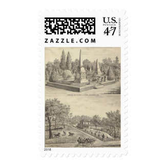 Cemetery lot Sacto, res Woodland Postage Stamp