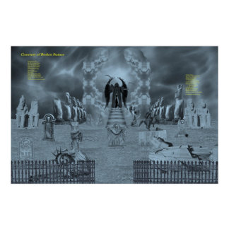 Cemetery of Broken Statues Poster