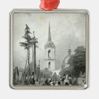 Cemetery of the Smolensko Church Metal Ornament
