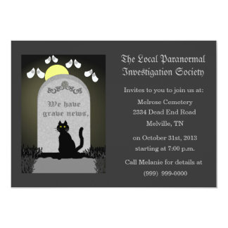 Cemetery Paranormal Research 5x7 Paper Invitation Card