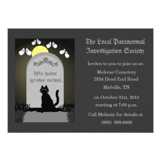 Cemetery Paranormal Research Personalized Announcements