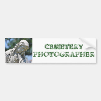 Cemetery Photographer bumper sticker