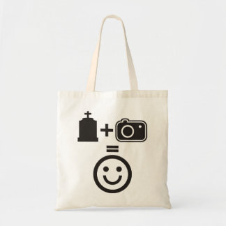 Cemetery Photography Smiley Budget Tote Bag